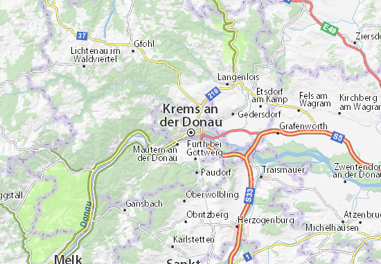Krems an der Donau Map