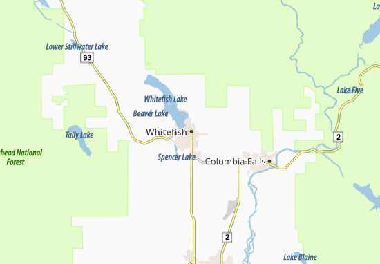 Whitefish Map