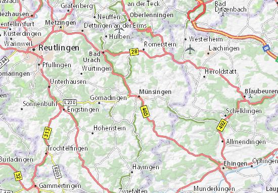 Münsingen Map