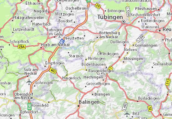 Mapa Plano Hirrlingen