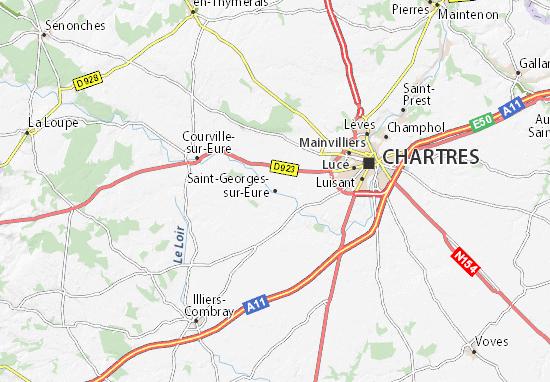 Mapa Plano Saint-Georges-sur-Eure