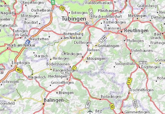 Mapa Plano Ofterdingen