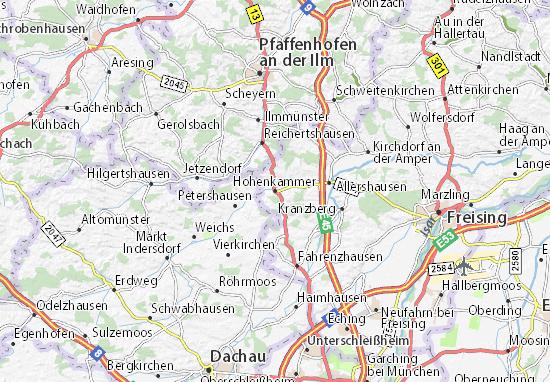 Karte Stadtplan Hohenkammer