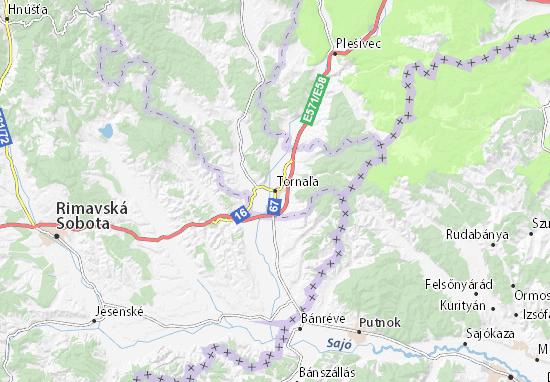 Tornaľa Map