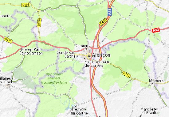 Mapa Plano Saint-Germain-du-Corbéis