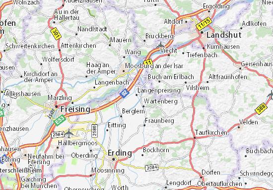 Karte Stadtplan Langenpreising
