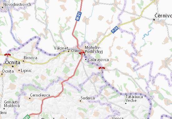 Mapa Plano Calaraşovca