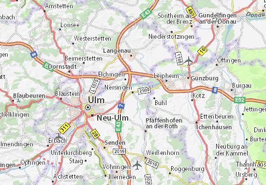 Nersingen Map