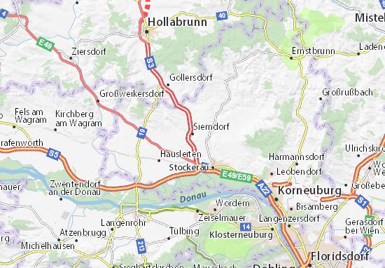 Karte Stadtplan Sierndorf