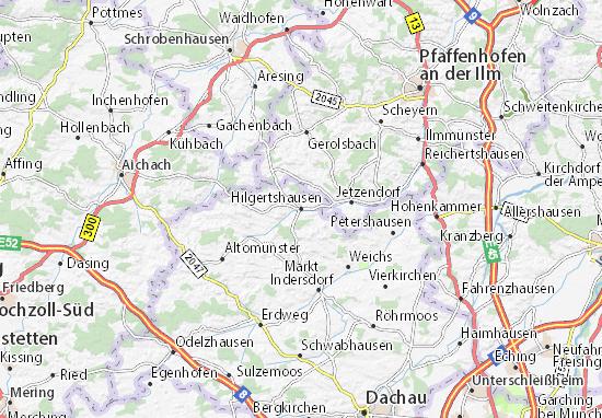 Carte-Plan Hilgertshausen