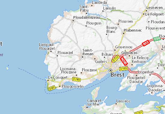 Saint-Renan Map