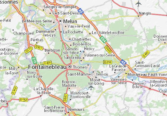 Kaart Plattegrond Vulaines-sur-Seine