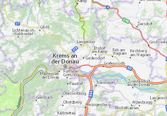Karte Stadtplan Gedersdorf