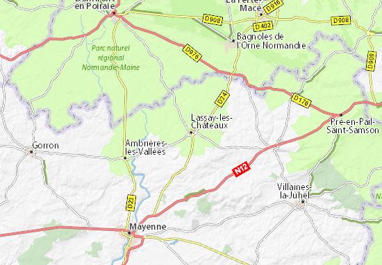 Lassay-les-Châteaux Map