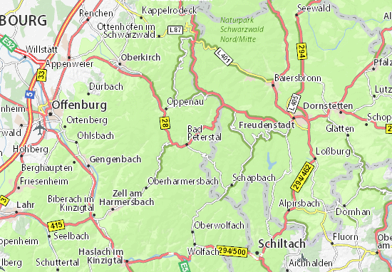 Mappe-Piantine Bad Peterstal-Griesbach