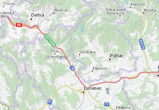 Cinobaňa Map