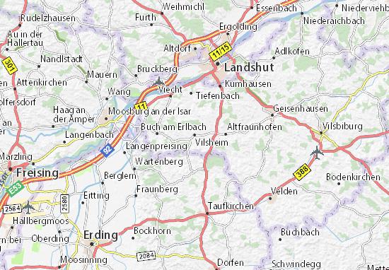 Carte-Plan Vilsheim