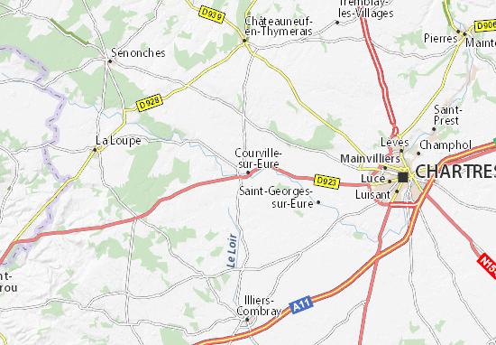 Mapa Plano Courville-sur-Eure