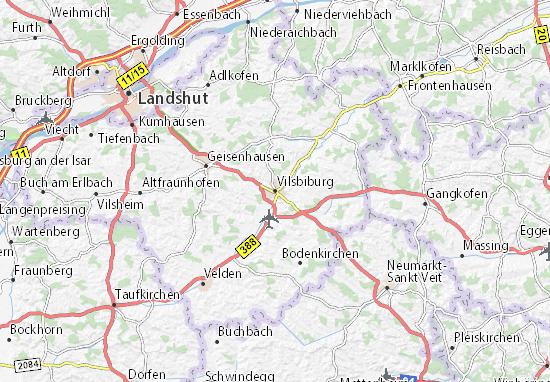 Carte-Plan Vilsbiburg