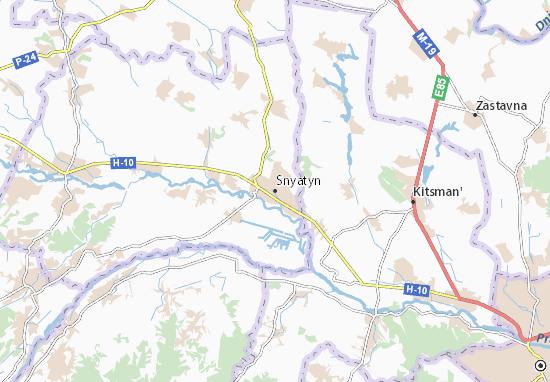 Kaart Plattegrond Snyatyn