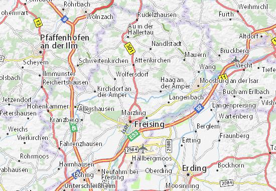 Karte Stadtplan Zolling