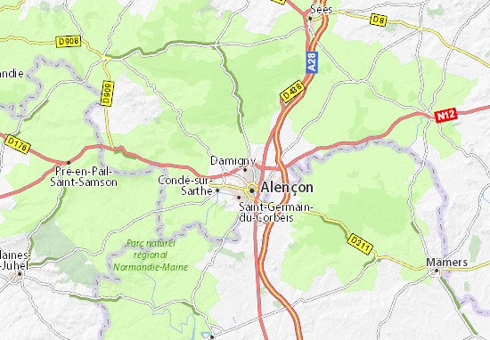 Carte-Plan Damigny