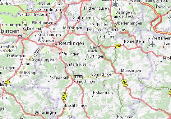 Karte Stadtplan Würtingen