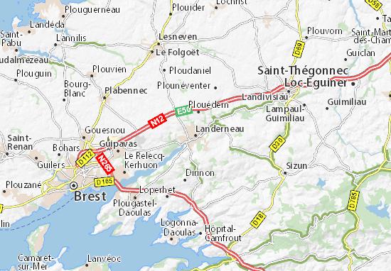 Landerneau Map