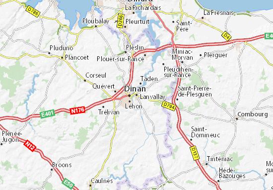 Lanvallay Map