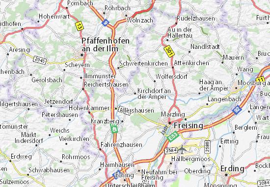 Karte Stadtplan Kirchdorf an der Amper