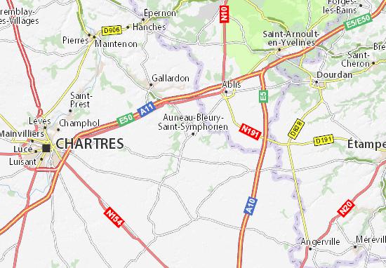 Carte-Plan Auneau-Bleury-Saint-Symphorien