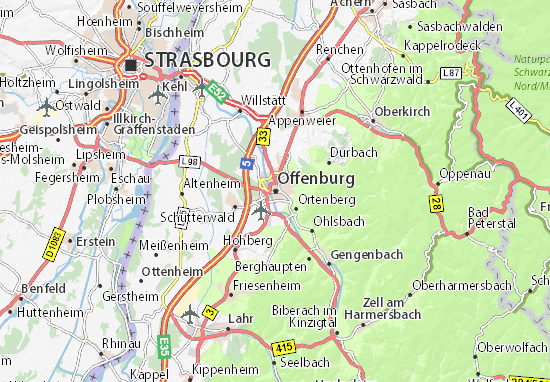 Offenburg Map