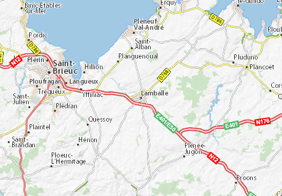 Mapas-Planos Lamballe