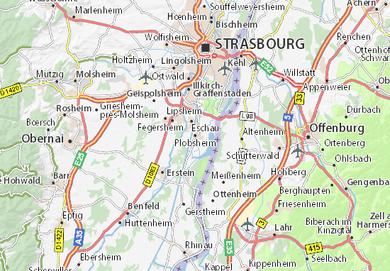 Plobsheim Map