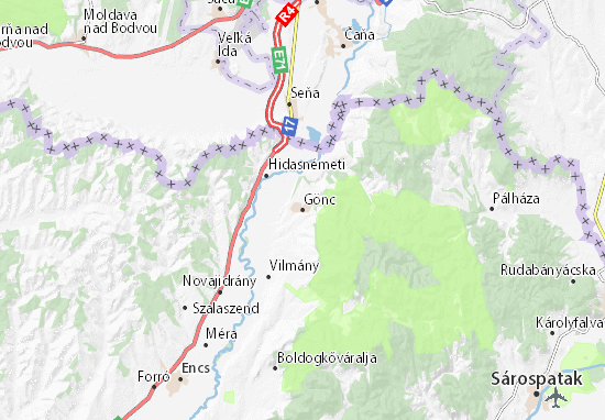 Mapa Gönc