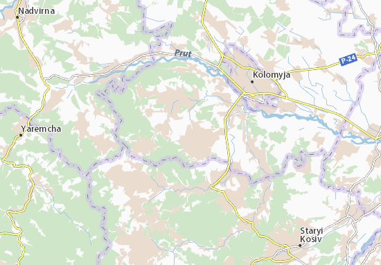 Malyi Klyuchiv Map