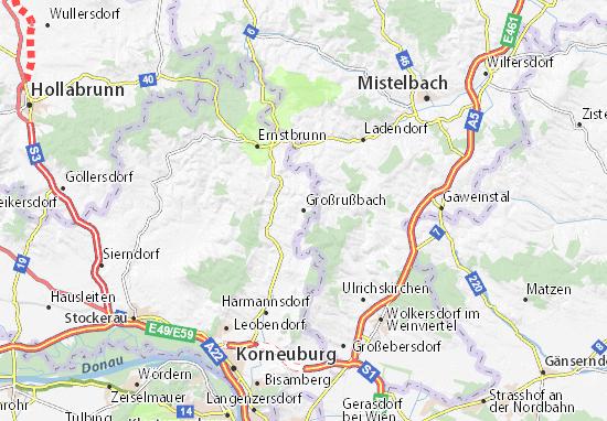 Karte Stadtplan Großrußbach