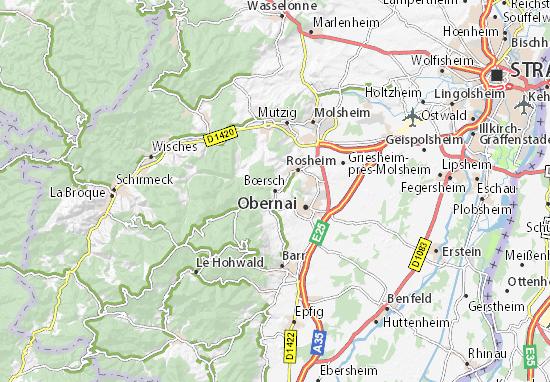 Karte Stadtplan Bœrsch