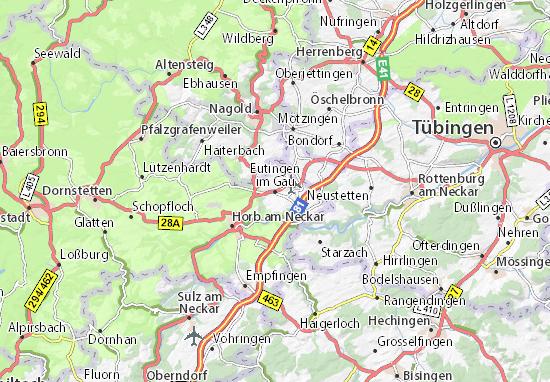 Mapa Plano Eutingen im Gäu