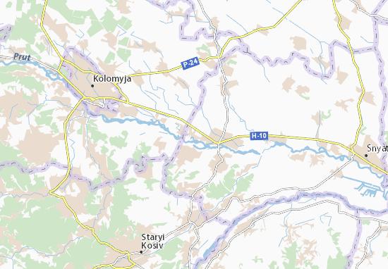 Borshchiv Map