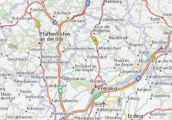 Karte Stadtplan Wolfersdorf