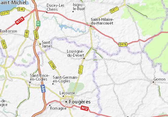 Mapas-Planos Louvigné-du-Désert