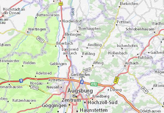 Karte Stadtplan Rehling