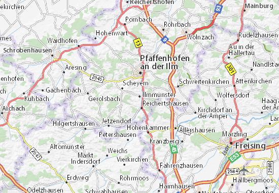 Karte Stadtplan Ilmmünster