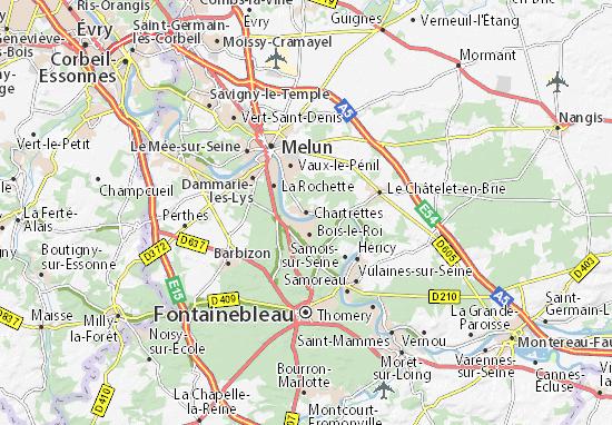 Kaart Plattegrond Chartrettes