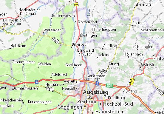 Langweid am Lech Map
