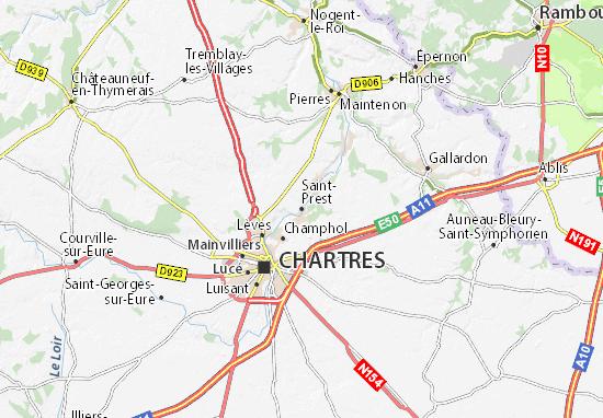 Mapa Plano Saint-Prest