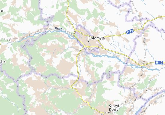 Nyzhnii Verbizh Map