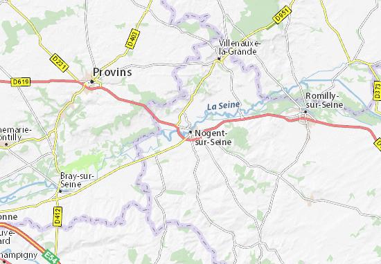 Mapa Plano Nogent-sur-Seine
