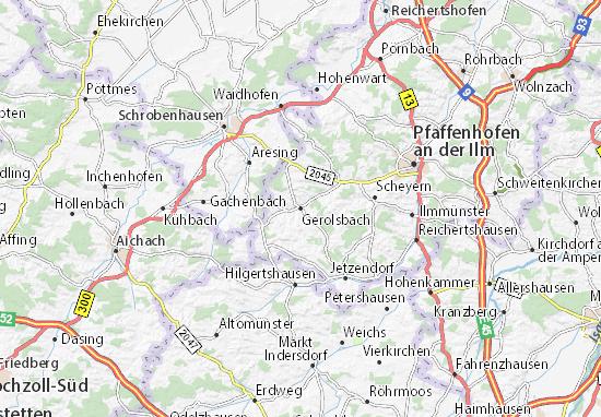 Carte-Plan Gerolsbach